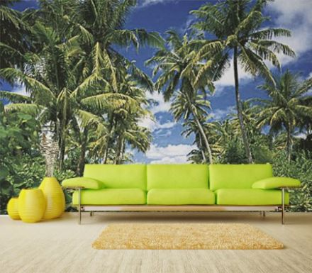 Tropical island wall mural wallpaper